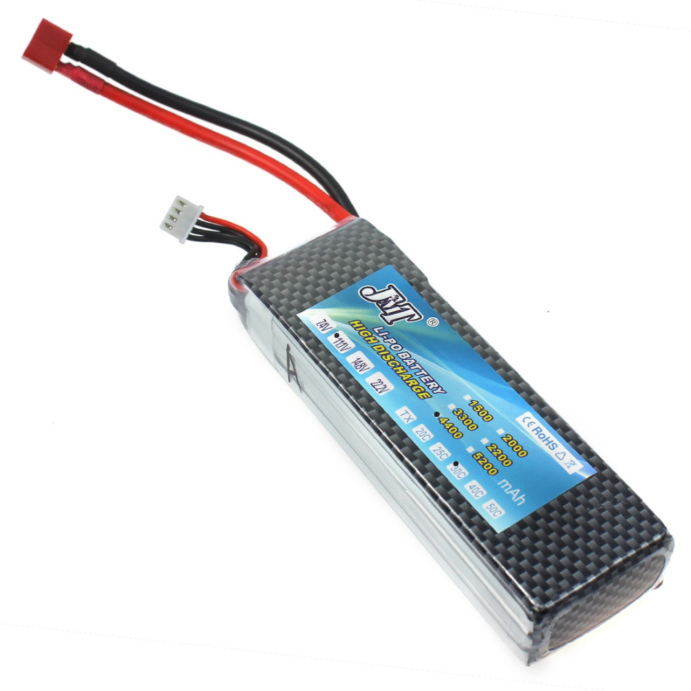 3s Lipo Jmt 1piece Lion Power 3s Lipo Battery 11 1v 4400mah 30c T Plug For Rc Drone Quadcopter Helicopter Car Boat