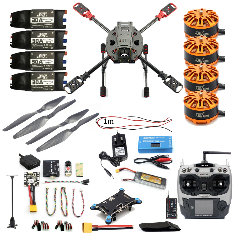 Diy Drone Software Full Set Diy 2 4ghz 4 Aixs Quadcopter Rc Drone 630mm Frame Kit Mini Pix Gps At9s Tx Rx Brushless Motor Esc Altitude Hold