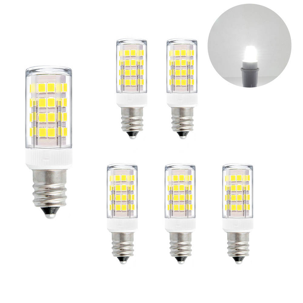 Bulb Led Screw E12 Ses Small Screw Led Capsule Corn Light Bulbs 5w 400lm Cool White 6000k Ac110 120v Replace 40w Incandescent Candle Light Bulbs For Chandelier