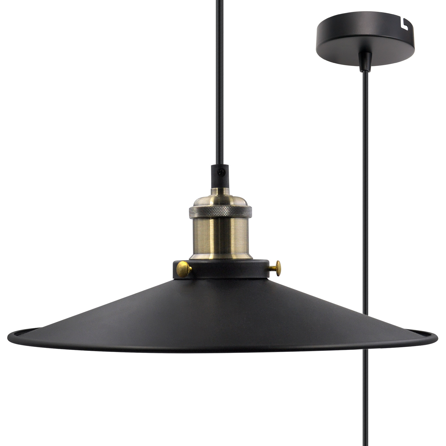 Ceiling Light Shades Black Pendant Light Shade Vintage Metal Ceiling Hanging Lamp Shade Pendant Light Fixture For Kitchen Dining Room Restaurant Maximum 2 Meters