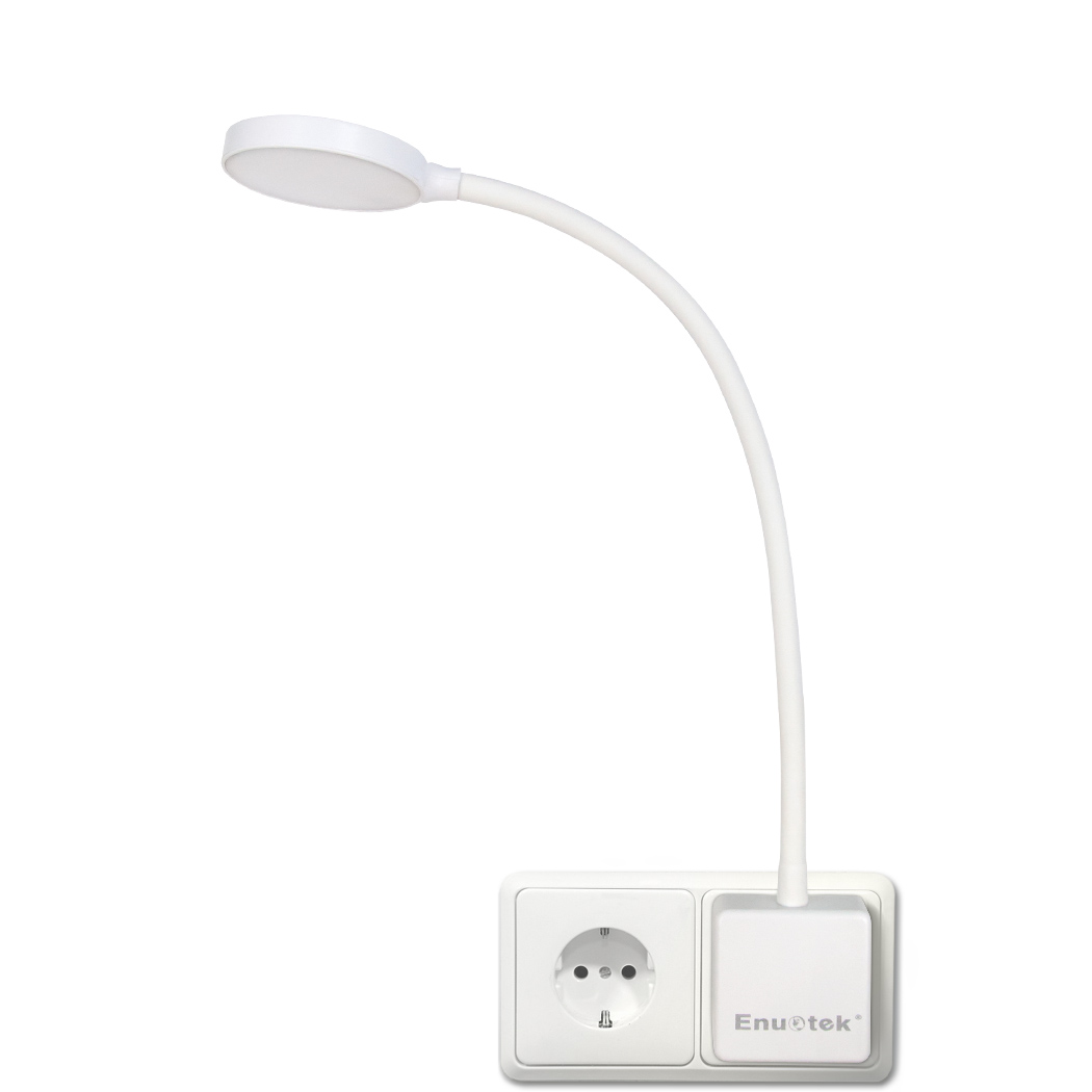 Swing Wall Lamp Dimmable Plug In Led Wall Light Swing Arm Bedside Night Lamp With Outlet Power Socket Plug 4w 350lm Natural White Lighting 5000k Non Remote Controlled