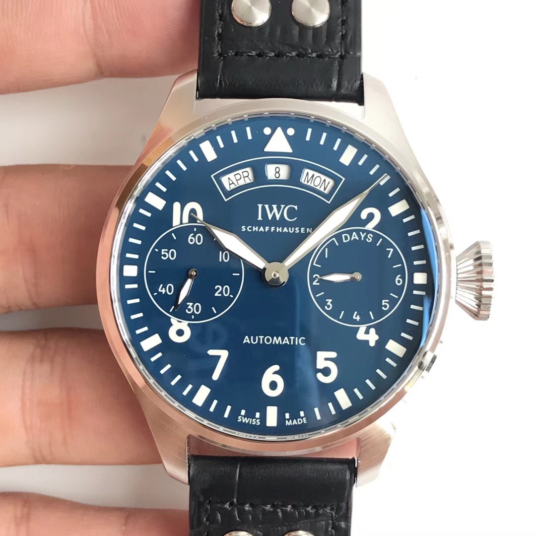 Iwc Replica Replica Iwc Big Pilot Annual Calendar Edition 150 Years Iw502708 N Rose Gold Blue Dial Swiss 52850