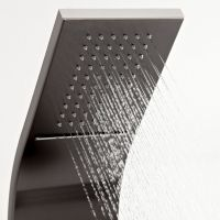 Thermostatic Shower Panel with Waterfall Head - Dark Gray