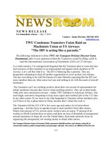 press release IBT Airways