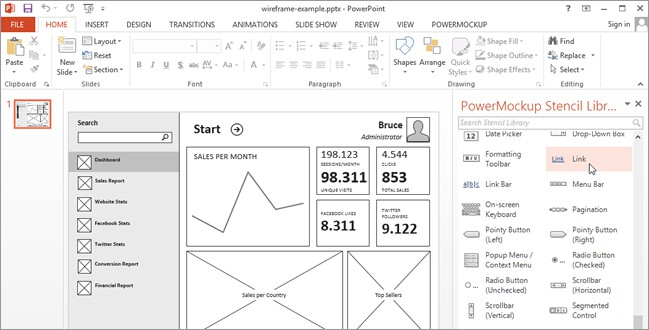 Wireframing And Storyboarding With PowerPoint  PowerMockup