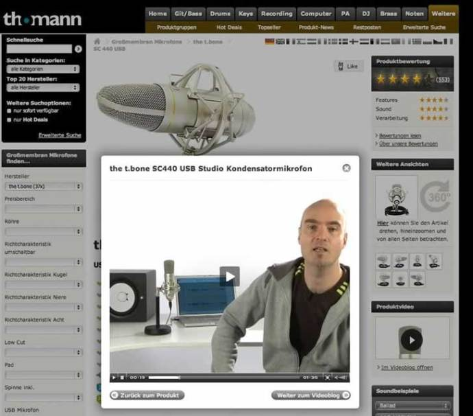 product-video-usability-guidelines-best-practices-thomann