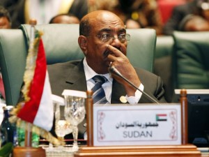 Sudanese President Omar al-Bashir attends the opening session of the second Afro-Arab Summit in Sirte