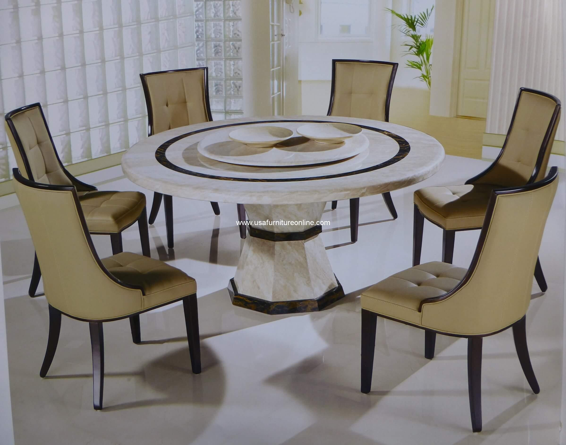 Furniture Stores Canberra Canberra Italian Marble 7 Piece Round Dining Set