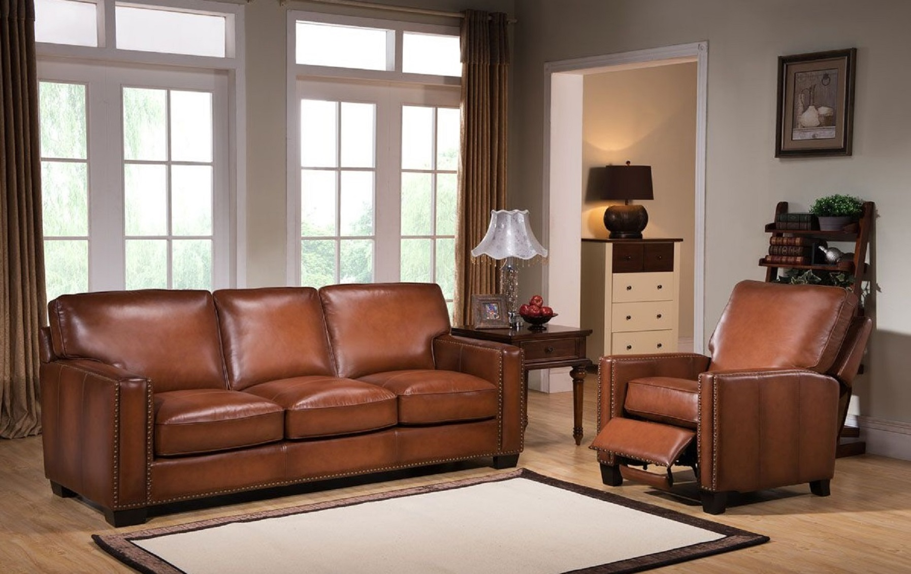 Sofa Set Online Harley 100 Full Leather Brown Sofa Set Usa Furniture Online