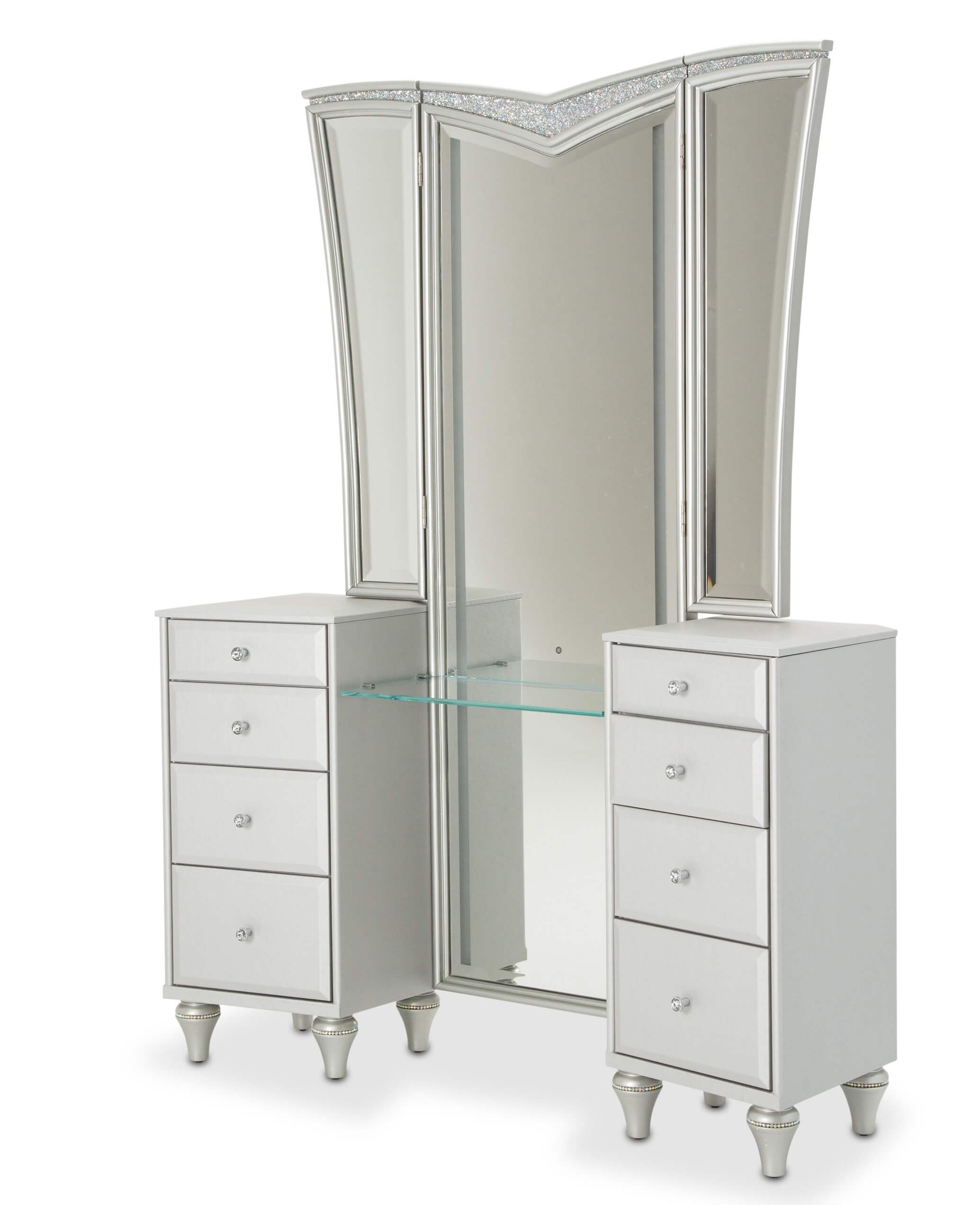 3 Piece Vanity Mirror 3 Piece Melrose Plaza Vanity And Mirror And Stool Aico