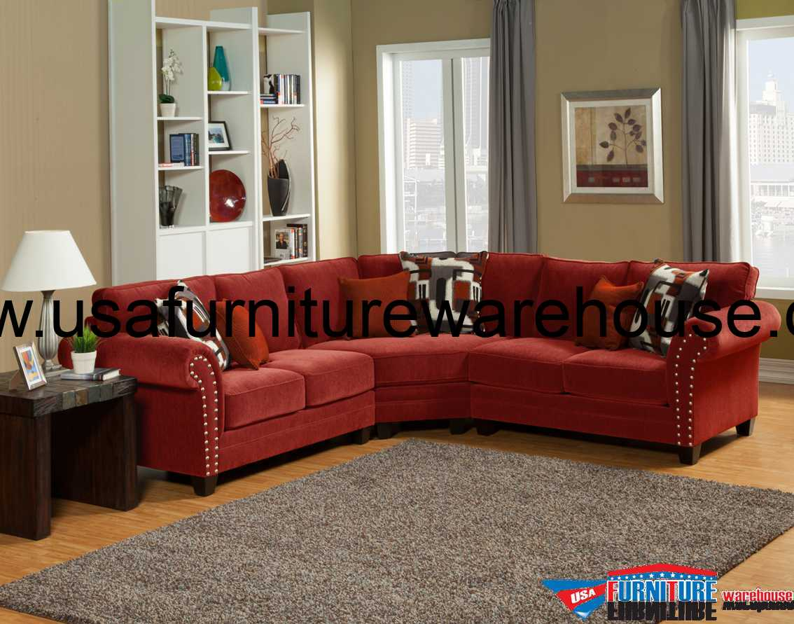 Outlet Sofas Barcelona Benchley Furniture Barcelona Sectional Set In St Cinnabar Red