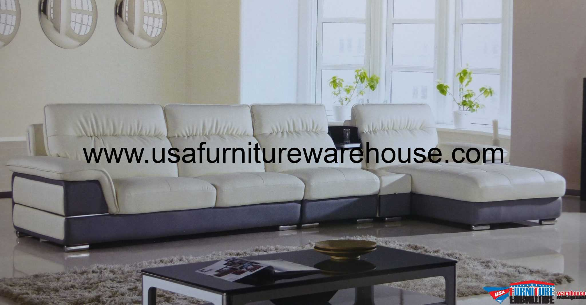 Sofa Set Grau Hover Ivory Gray Leather Modern Sectional Sofa Set