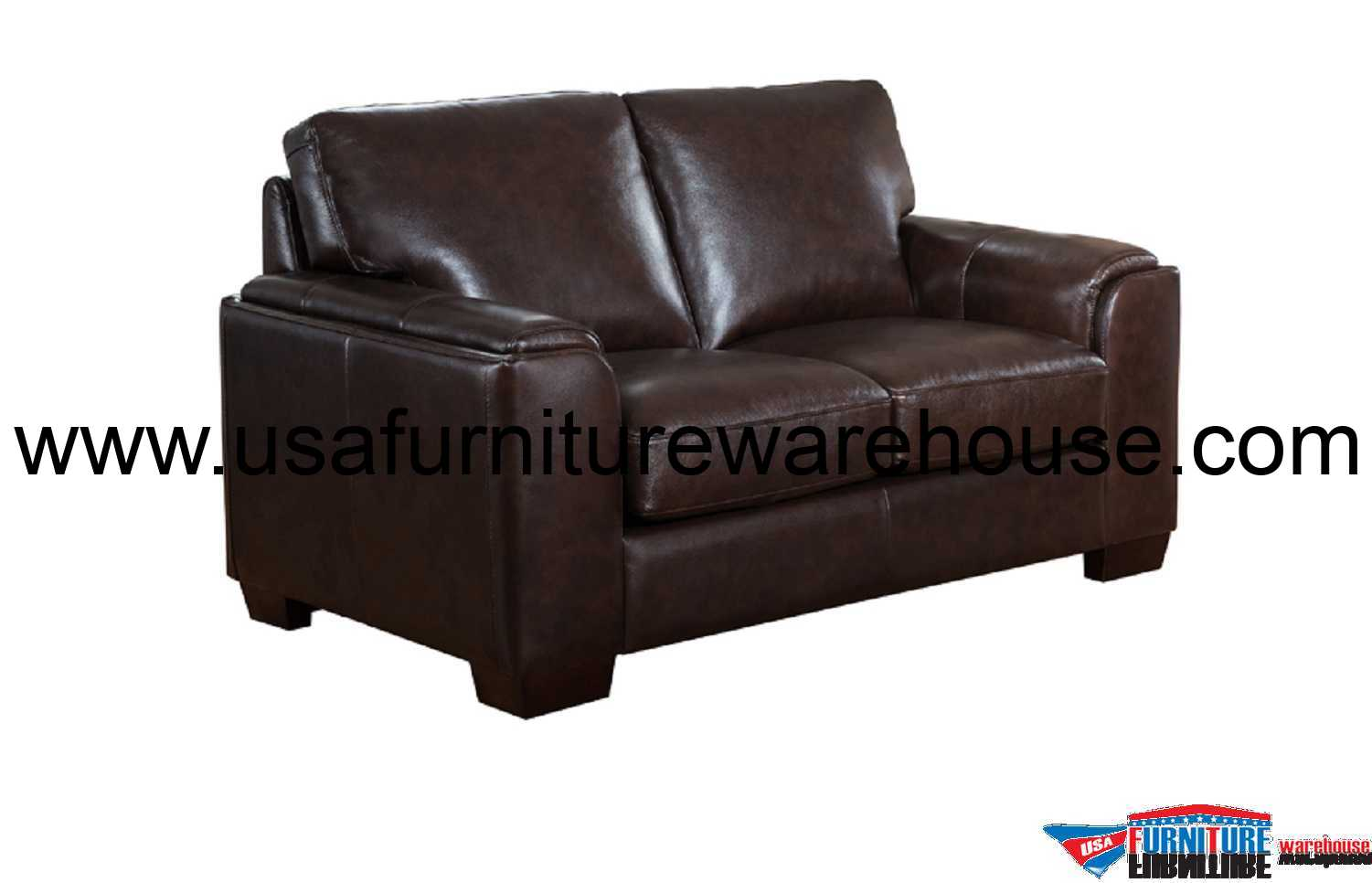 Leather Loveseat Suzanne Full Top Grain Dark Brown Leather Loveseat Usa