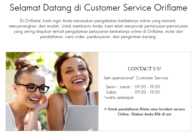 customer care oriflame
