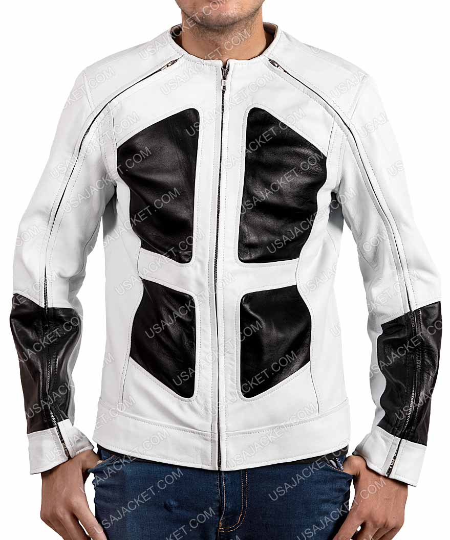 Black Freiday Lewis Tan Deadpool 2 Shatterstar Leather Jacket