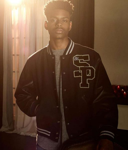 Black Frifay Aubrey Joseph Cloak & Dagger Sp Logo Baseball Jacket
