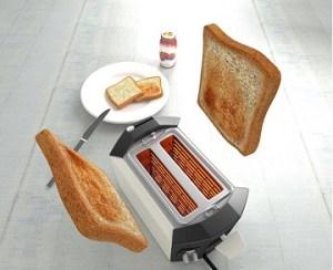 トースト焼き上がり