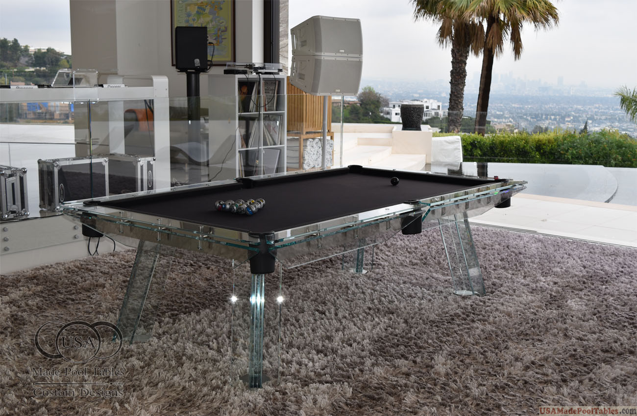 Glaspool Glass Pool Table Glass Pool Tables Crystal Pool Tables