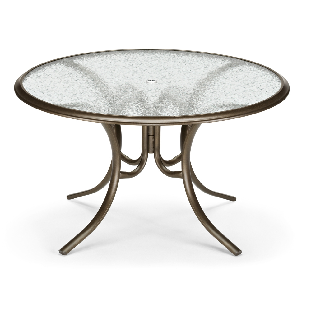 Round Glass Top Dining Table Telescope Casual 56