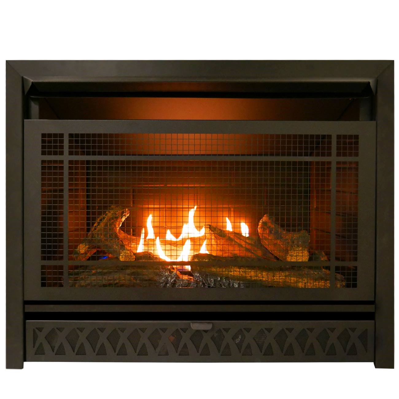 Btu Gas Fireplace Gas Fireplace Insert Dual Fuel Technology 26 000 Btu