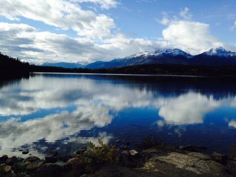 Magnificent view in Jasper, just one stop in this full Canada trip