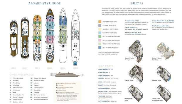 Star Pride deck plan