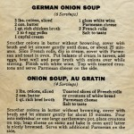 Vintage Onion Soup Recipes - Train Travel Special