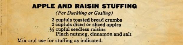 Apple and Raisin Stuffing