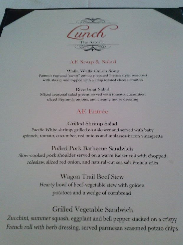 Heres our lunch menu. What looks good?