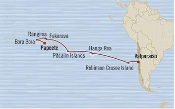 Pacific Serenade Map