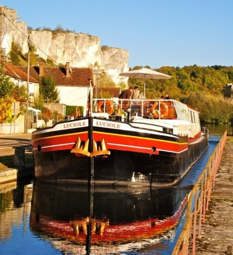Northern Burgundy France Barge Luciole