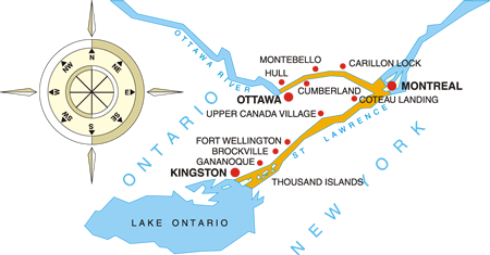 Canada's Celebration of Spring Cruise Map