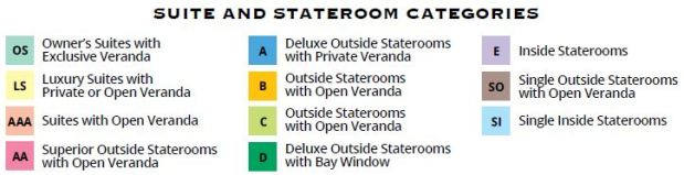 2017 Stateroom Categories