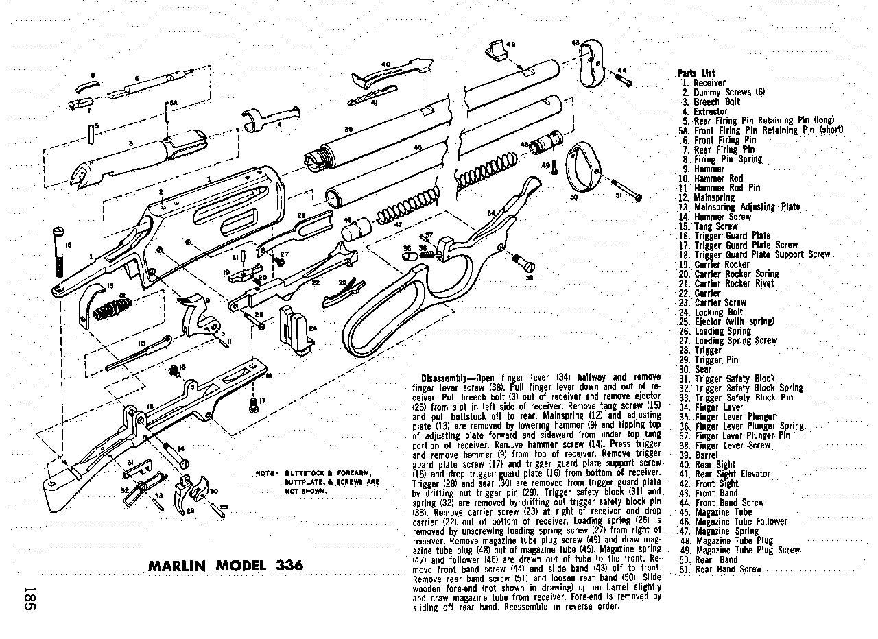 marlin model 336 parts diagram