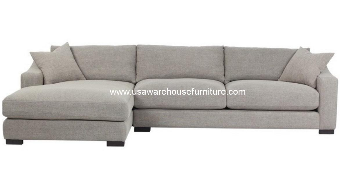 Fabric Sectional Sofas With Chaise Brandon Left Chaise Fabric Sectional Sofa - Usa Warehouse