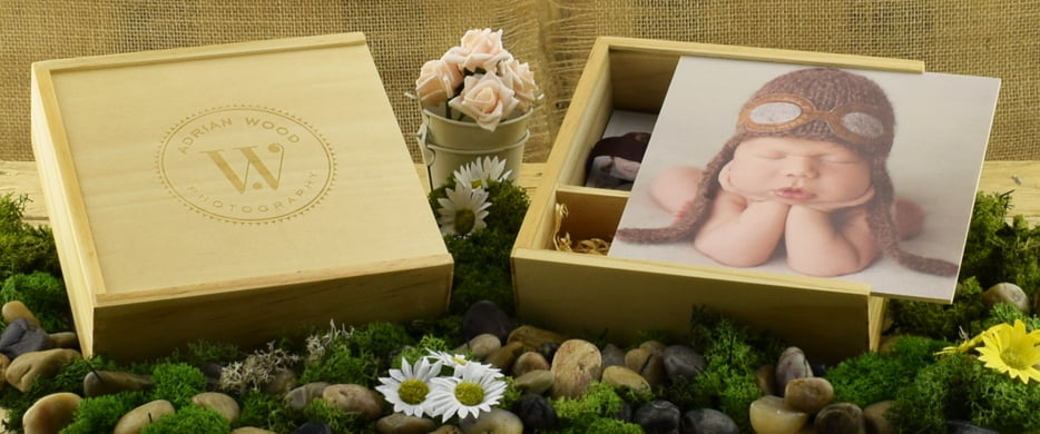 Engraved Wooden USB  Photo Print Gift Box USB Makers Intl - box prints
