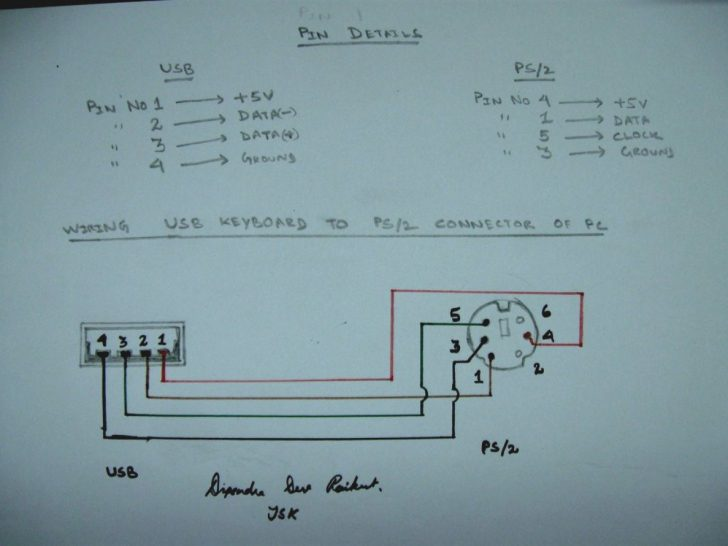 ps2 controller to usb wiring diagram USB Wiring Diagram