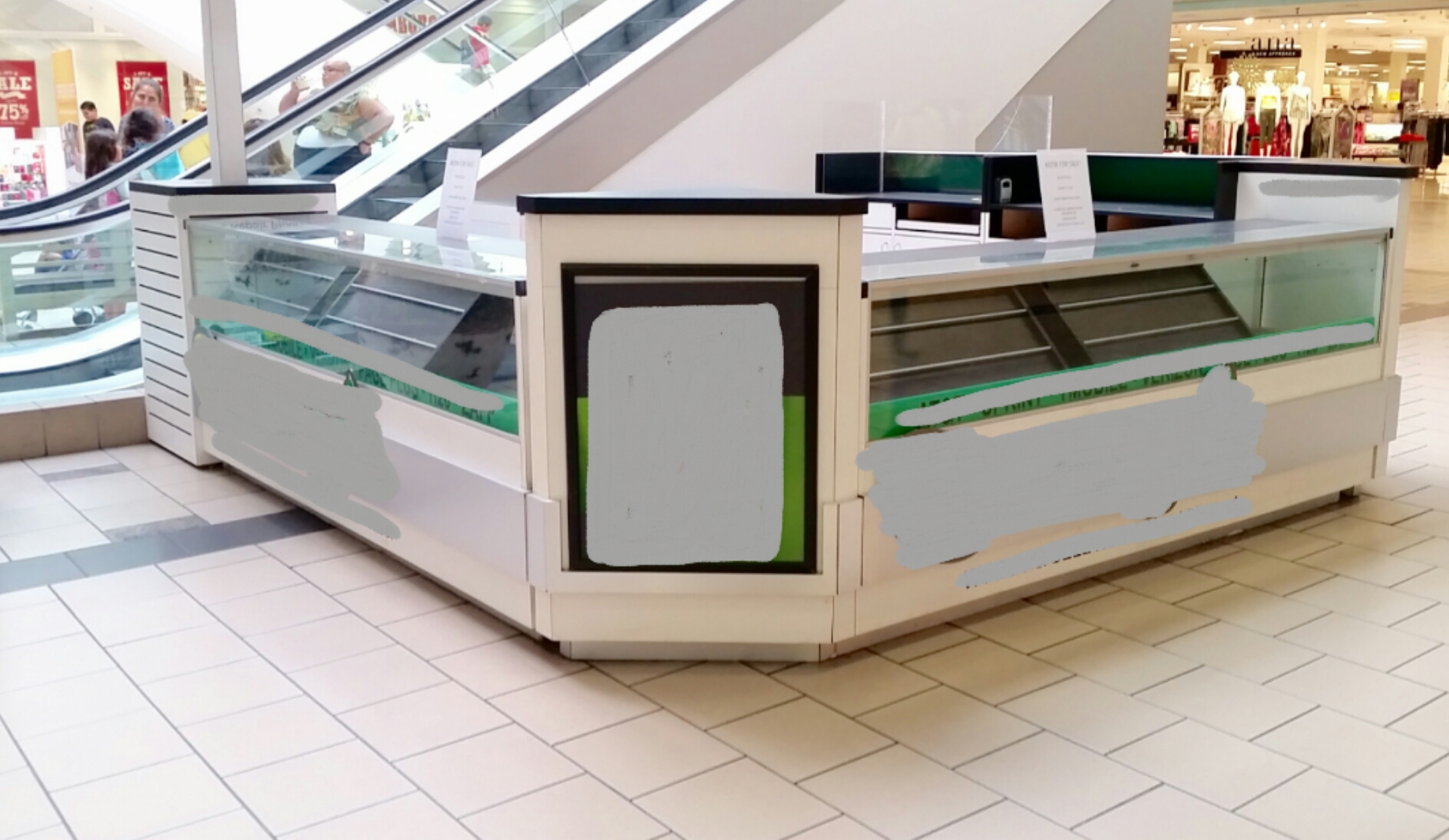 Sale Counter Design Indoor Mall Retail Kiosks Full Set Mobile Phones Sales