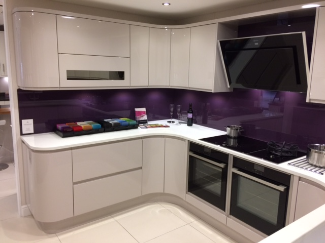 Island For Kitchen Design Sheraton In-line High Gloss Cashmere Ex Display Kitchen