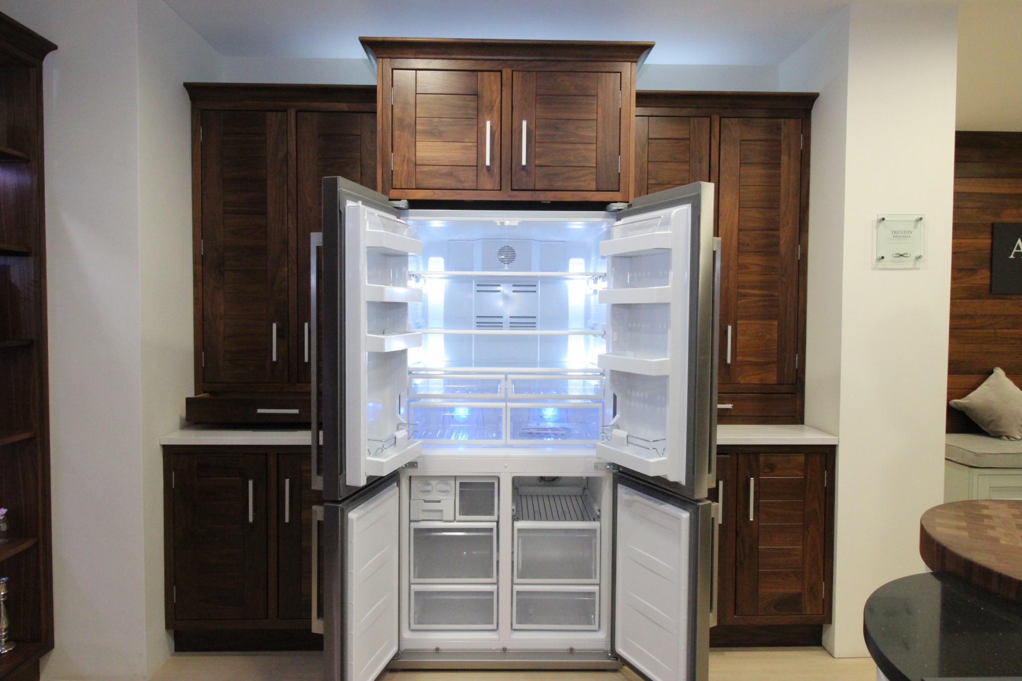 Kitchen Display Cabinet Rr 4350 Kitchen Stori Trenton Walnut Natural Display