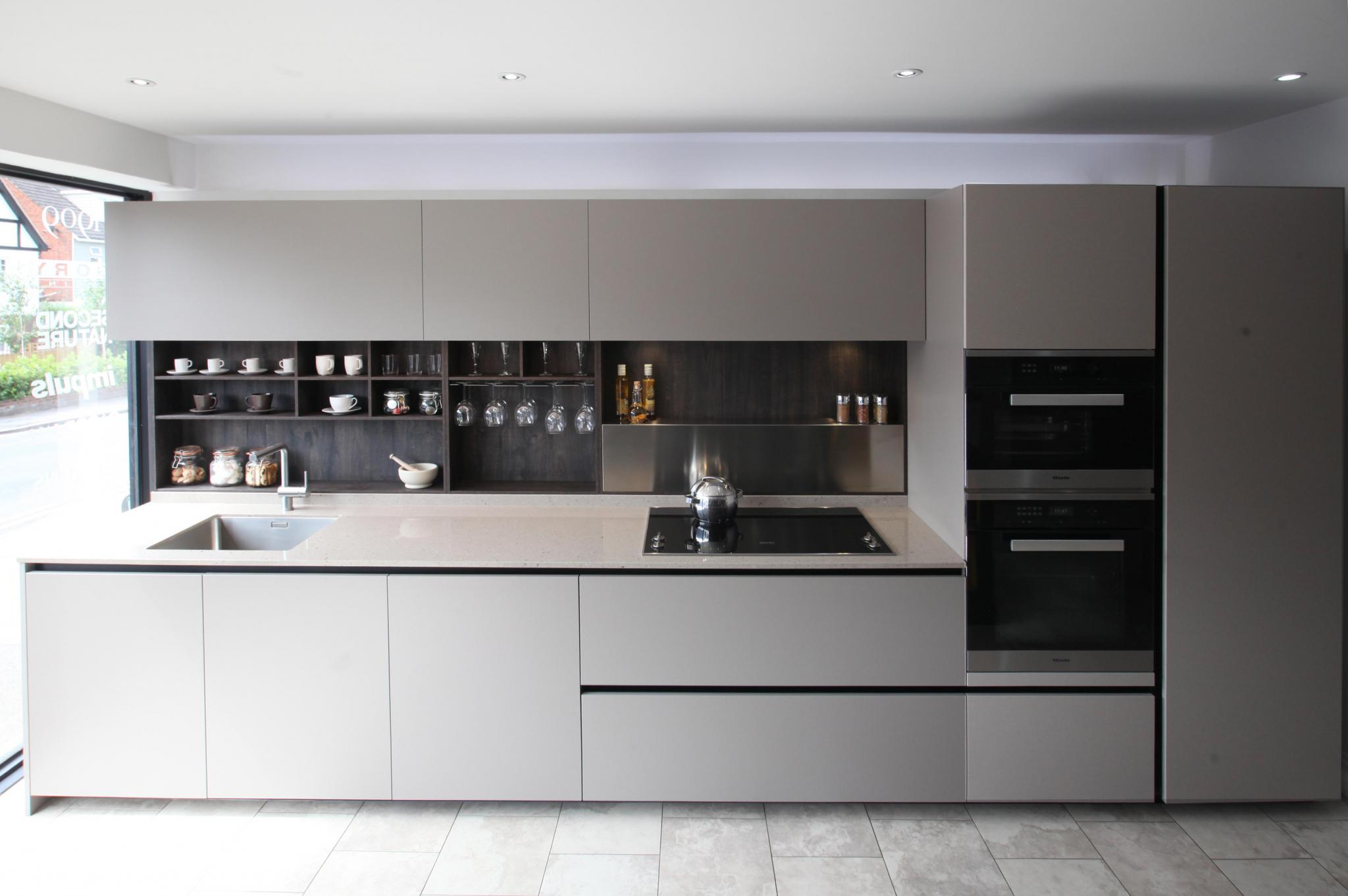Miele Kitchen Design Ernestomeda Italian Designer Modern Handleless Ex Display