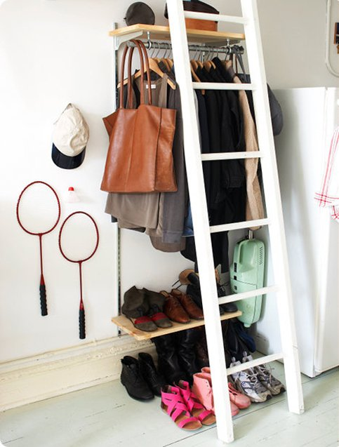Diy clothing storage solutions for small spaces No closet hanging solutions