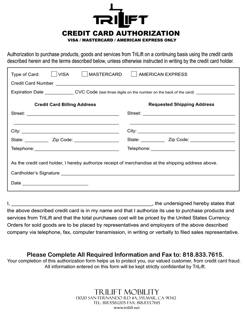 Doc608792 Credit Card Authorization Forms Authorization For – Credit Card Authorization Forms