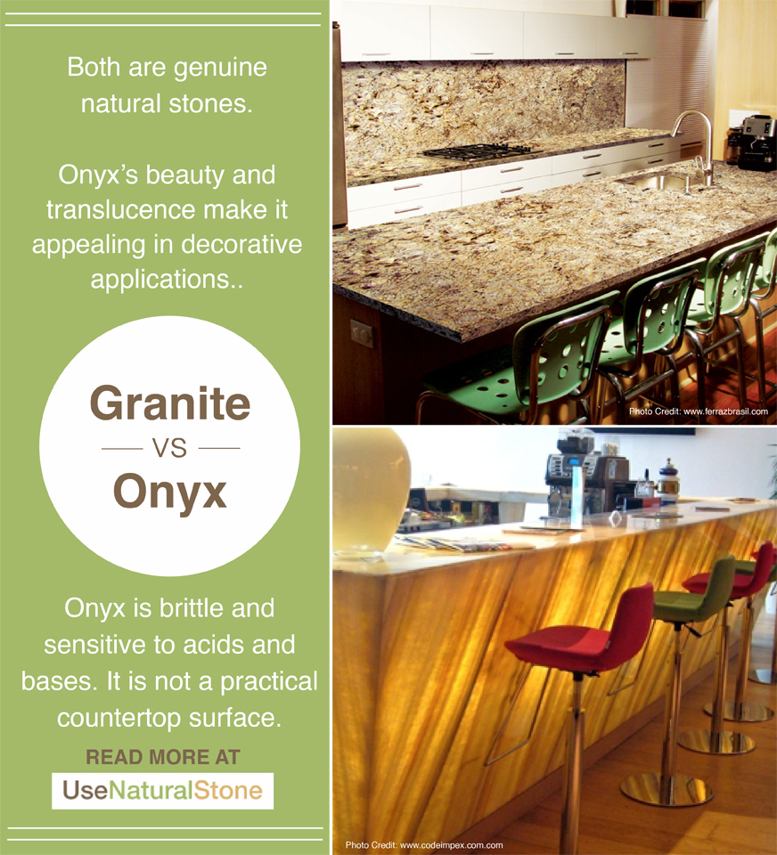 Kitchen Countertop Comparison Chart Granite Vs Onyx Countertops What Is The Difference