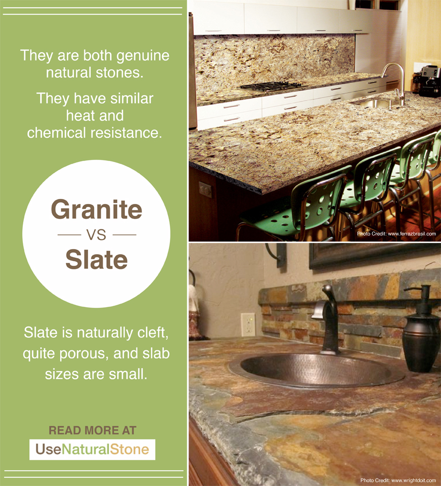 Countertop Comparisons Granite Vs Slate Countertops What Is The Difference