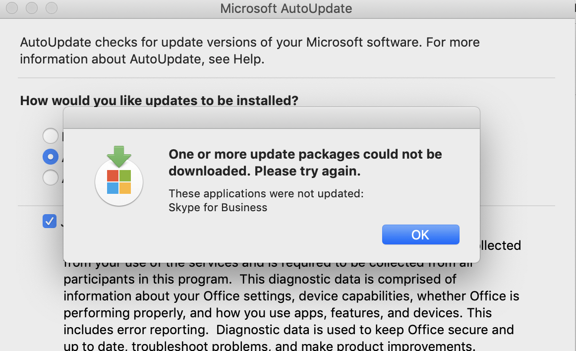 Update My Microsoft Office Error One Or More Update Packages Could Not Not Be Downloaded