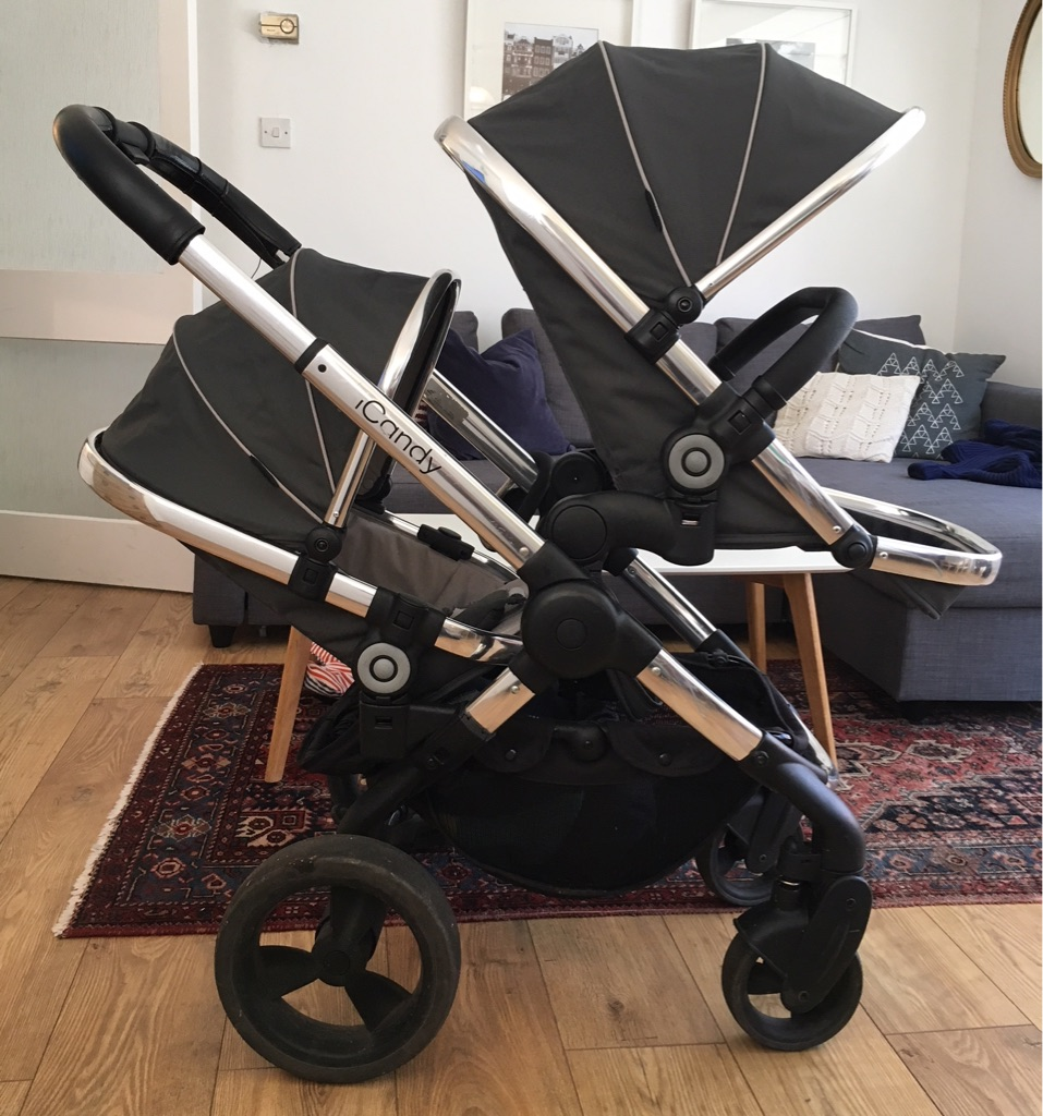Double Buggy In Sale Icandy Peach Blossom Double Buggy With Bassinet