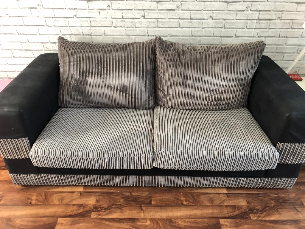 Cord Sofa Black And Grey Cord Sofa And Chair