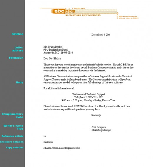 The ABC\u0027s to Writing A Block Style Reference Letter HubPages