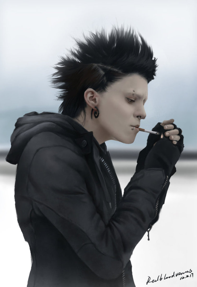 New Attitude Girl Wallpaper Lisbeth Salander Girl With The Dragon Tattoo Costume And